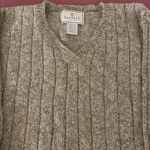 Tan ladies v-neck sweater from Express